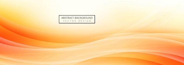Abstract wave banner template design Free Vector