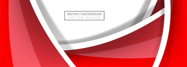 Abstract wave banner template vector Free Vector