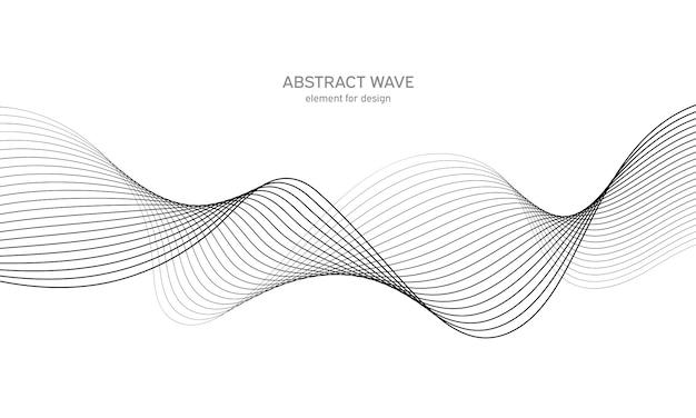 Абстрактный элемент волны для дизайна. цифровой частотный эквалайзер. Premium векторы