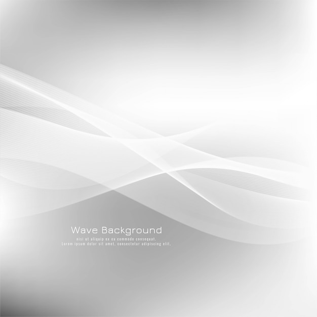 Abstract wave grey modern background Free Vector