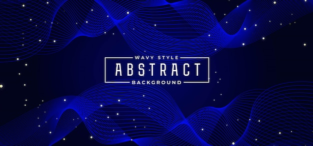 Abstract wave line colorful background Premium Vector