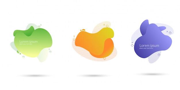 Abstract wave liquid element Premium Vector