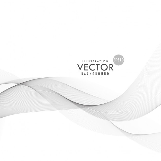 Abstract wave, modern gray background Free Vector