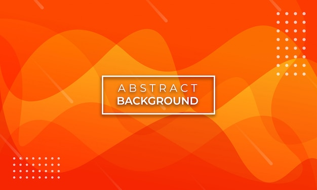 Abstract Wave Orange Colored Background Vector Premium