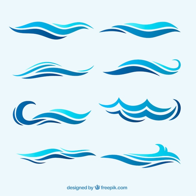 Sea Wave Vectors, Photos and PSD files | Free Download
