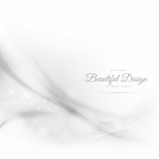 Abstract wave white background with lines Free Vector