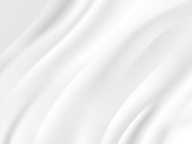 Abstract wave white and gray tone  background Premium Vector