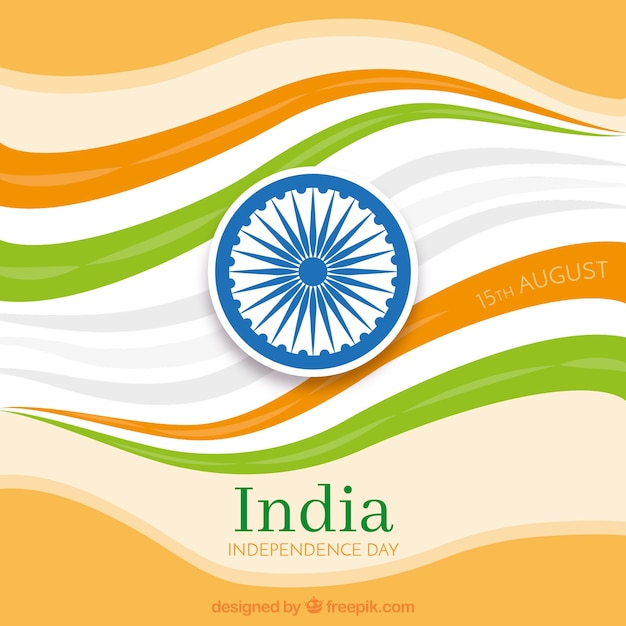 Abstract waves background of india independence