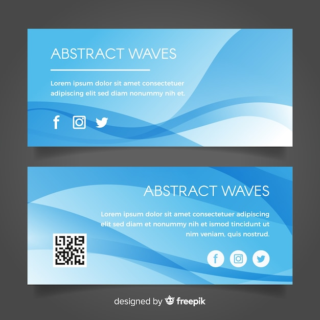 Abstract waves banner Free Vector