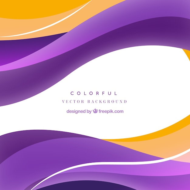 abstract waves colorful vector background vector free
