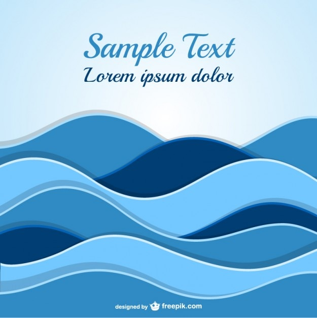 abstract waves template vector
