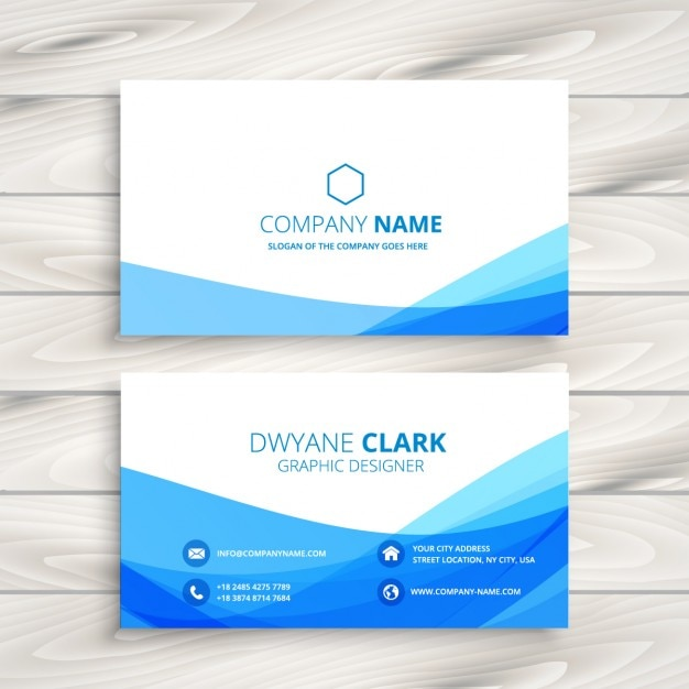 abstract wavy business card Free Vector