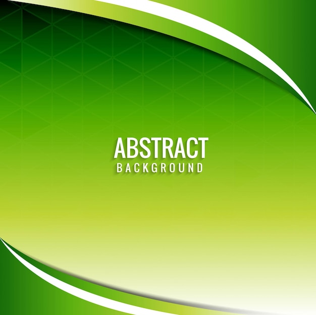 Abstract wavy green background Vector Free Download