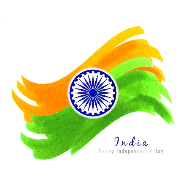 Abstract wavy indian independence day design