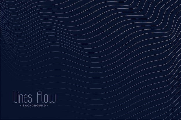 Abstract wavy lines dark background Free Vector