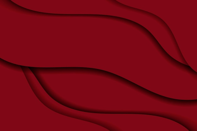 Абстрактный волнистый красный фон Бесплатные векторы