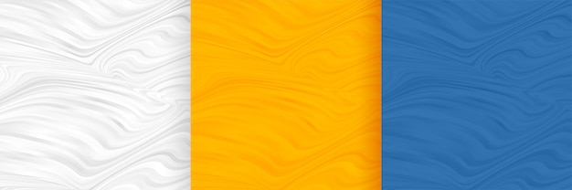 Abstract wavy shape pattern blank background set Free Vector