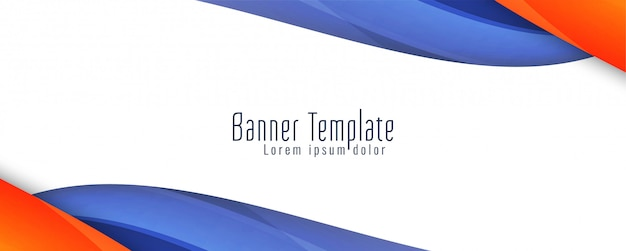 Abstract wavy stylish banner  template Free Vector