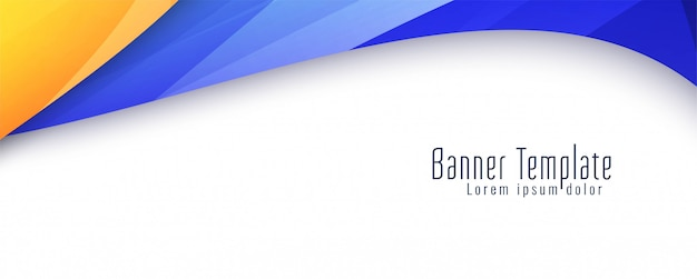 Abstract wavy stylish banner Free Vector