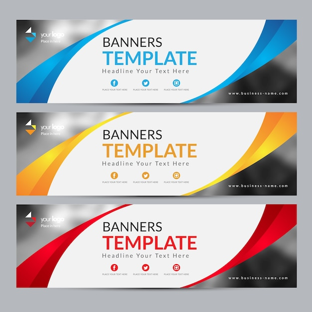 abstract web banner design background banner website design vector