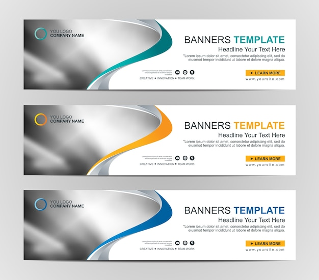 Abstract web banner design background or header templates Premium Vector