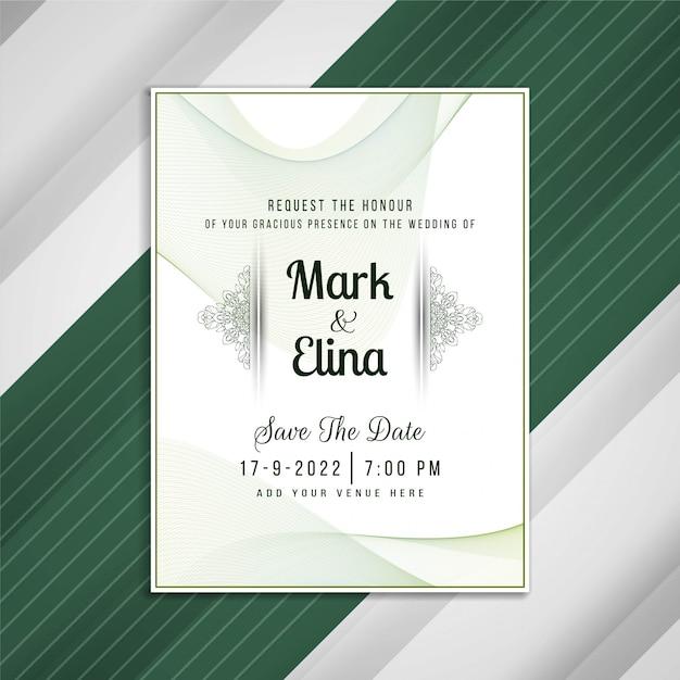 Abstract wedding invitation artistic card design Free Vector