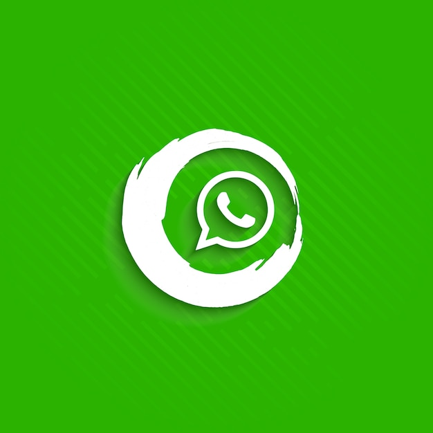 Abstract whatsapp icon Free Vector