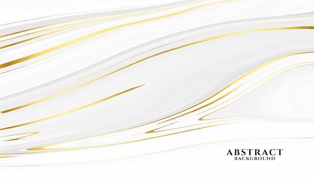 抽象的な白と金色の大理石のテクスチャ背景 無料ベクター