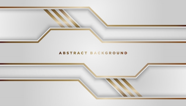Abstract white background overlap layers Premium Vector