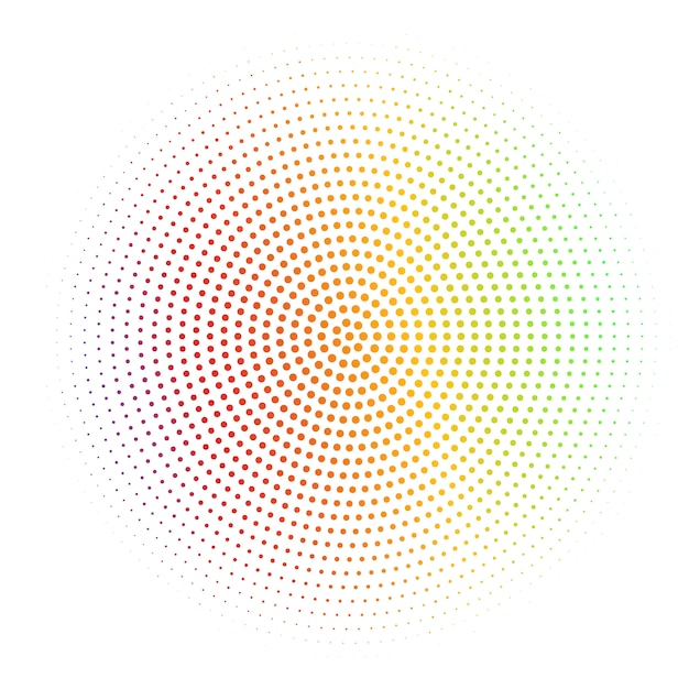 Abstract white background textured with radial silver halftone Premium Vector