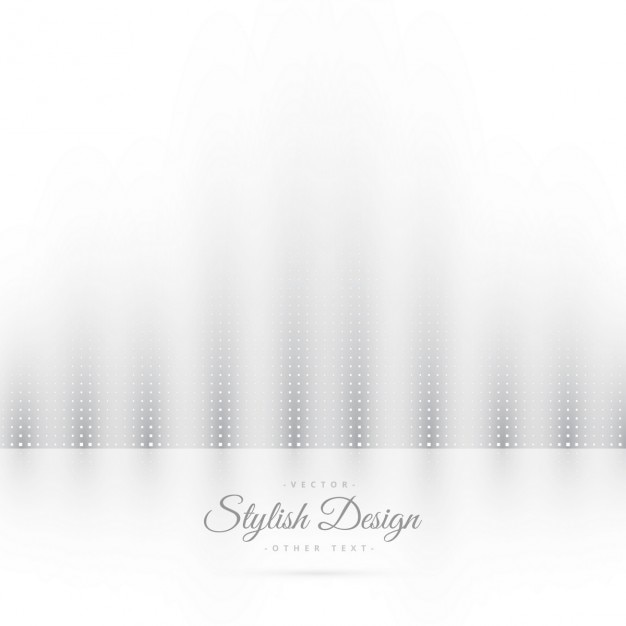 Abstract white background with doots Free Vector