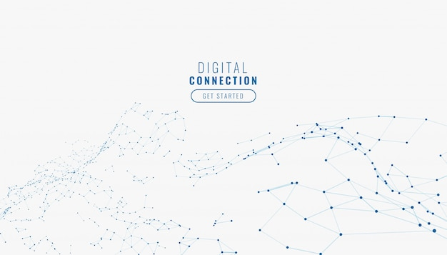 Abstract white digital network connection lines background Free Vector