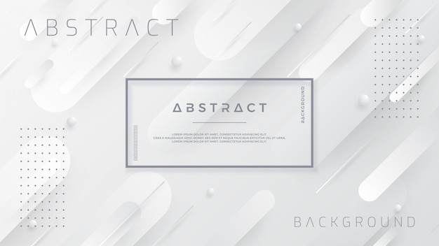 Abstract white and gray background. Premium Vector