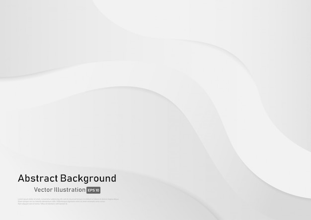Abstract white and gray gradient color curve background. Premium Vector