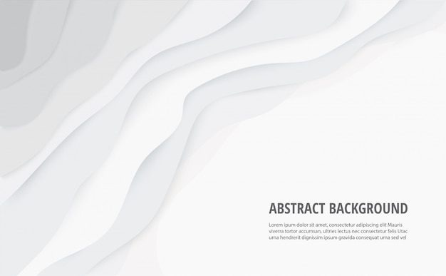 Abstract white gray lines background Premium Vector