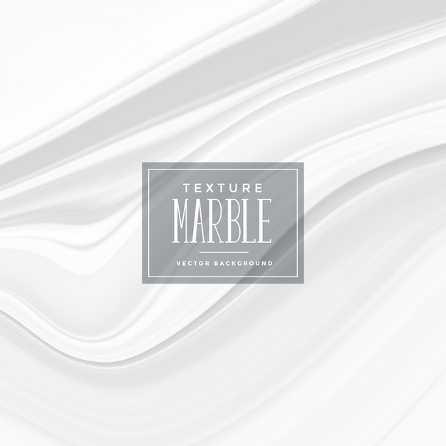 Abstract white marble texture background Free Vector