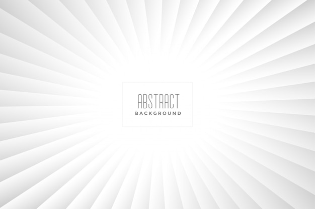 Abstract white rays background design Free Vector