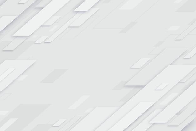 Sfondo astratto forme bianche Vettore gratuito
