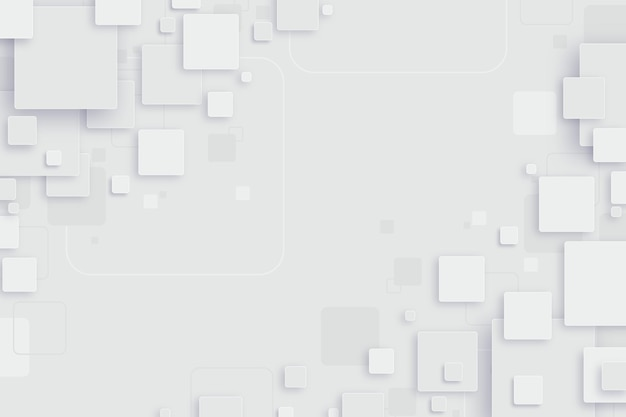Abstract white shapes background Free Vector