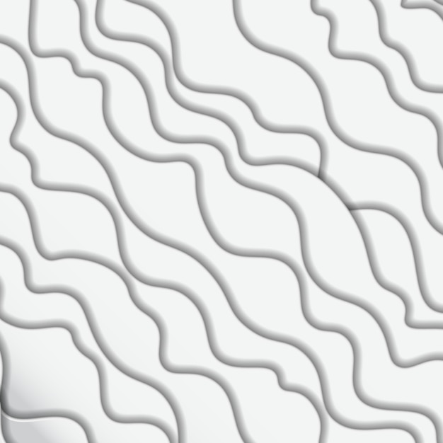 Abstract white waves background