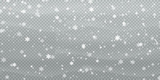 雪片から抽象的な冬の背景 Premiumベクター