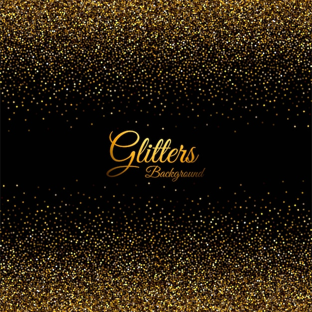 Abstract  with golden glitters texture Free Vector
