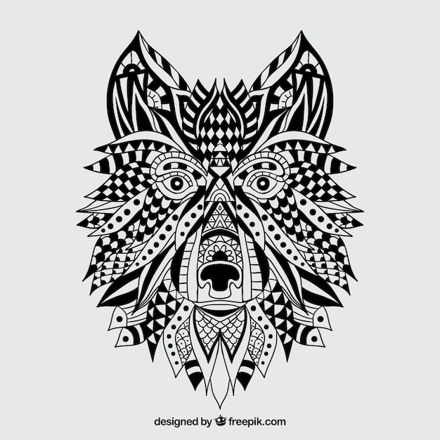 Abstract Wolf Drawing