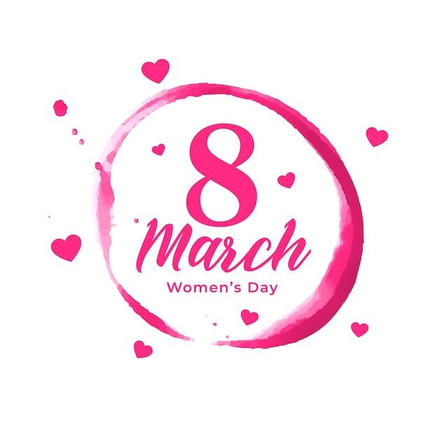 Абстрактный женский день плакат с сердечками Бесплатные векторы