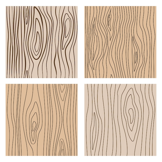Abstract wood line seamless textures. repeating wooden decoration Premium Vector