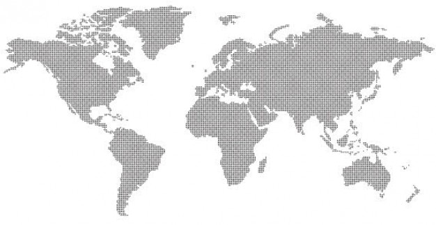 Abstract World Map Free Vector