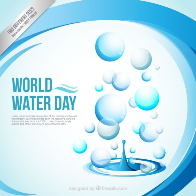 Abstract World Water Day background Premium Vector