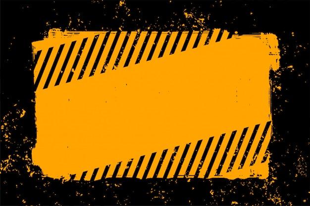 抽象的な黄色と黒のグランジスタイルの背景 無料ベクター