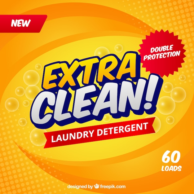 Abstract yellow background of detergent Free Vector