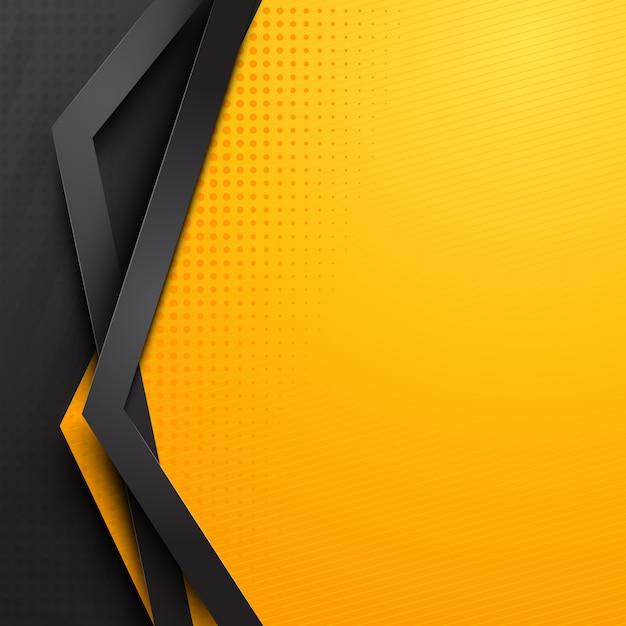 abstract yellow background template vector premium download